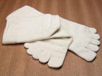 素足な気分絹5本指靴下