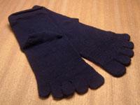 絹木綿パワーアシスト(絹・綿の2層構造の5本指靴下、日本製)